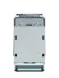 Beko DIS16R10 Fully Integrated Slimline Dishwasher - Silver Control Panel .