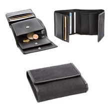 AIGNER Original Designer Damen Geldbörse Portemonnaie Leder schwarz 10x10cm! NEU