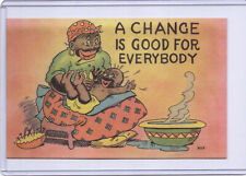 New Listing1952 Curt Teich Black Americana Postcard A Change is Good For Everybody