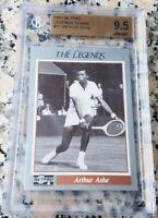 ARTHUR ASHE 1991 Netpro Tennis Legends Card RARE BGS 9.5 GEM $ HOF Grand Slam $