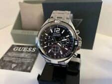Guess Men's Chronograph Stainless Steel Watch U1258G1 NEW IN BOX!!