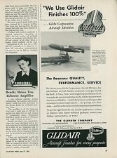 1951 Glidden Aviation Paint Ad Glidair Navy KD2G-2 Pilotless Target Aircraft