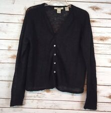 FREE PEOPLE black Wool Blend Cropped Cardigan Bolero Shrug Women's Large