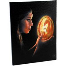 "Beginnings Canvas Wall Plaque by Anne stokes 10"" x 7"""