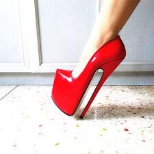 24CM Heel Height Sexy PU Pointed Toe Stiletto Heel Pumps US size 5-13.5 No.P2002