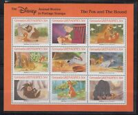 Grenada-Grenadines 1988 Disney's Fox and HoundSc 987 MS  mint never hinged