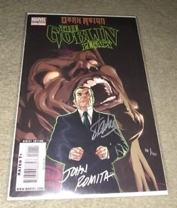 The Goblin Legacy 1 Dynamic Forces SILVER INK signed STAN LEE & ROMITA  18/40