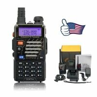 Baofeng UV-5R Plus + Earpiece VHF/UHF Ham Dual-Band 128CH FM Two-way Radio US