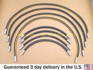 JCB BACKHOE- 3/8 BSP FRONT LOADER ARM HOSE KIT L+R, 8 PCS. (612/00100 612/02400)