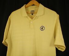 Adidas Men's Yellow Climacool Golf 2 Button Polo Shirt L