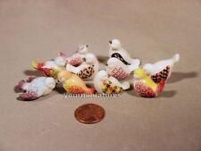 Set of 10 French Porcelain Feves Dove & Pigeons Epiphany Cake