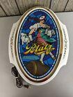 Vintage NOS Blatz Lighted Light-Up Beer Sign Dancing Girl On Barrel