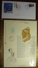 ENVELOPPE TIMBREE 1er JOUR MONTGENEVRE JO TURIN 2006 + DOCUMENT OFFICIEL