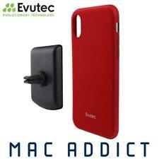 Evutec AERGO Ballistic Nyon Case W/ AFIX+ Vent Mount For iPhone XR - Red