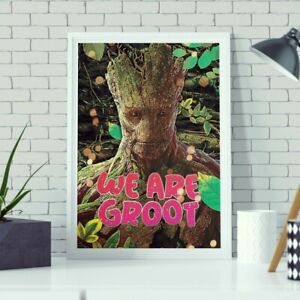 We Are Groot Print - Guardians of The Galaxy - Canvas Poster - Art Digital Print