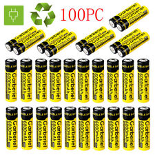 100PCS 3.7V 6000mAH Li-ion Rechargeable 18650 Battery For Flashlight Torch USA