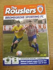 06/02/2016 Bromsgrove Sporting v Lichfield City . Any faults with this item hav
