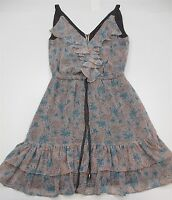 PURE SUGAR DRESS Women's Size XS Speckled V-neck Ruffled Light Pink Tea