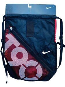 Neu Nike T90 Total 90 Fußball 2 Abschnitt Rucksack Sportbeutel Schwarz Rot
