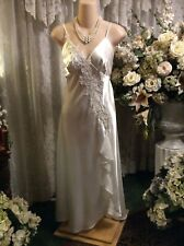 Amazing ~ NWT Belle Nuit Satin Ruffles Beads & Sequins Nightgown ~ Sz - XL