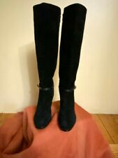 Leather And Suede Tall Boots Banana Republic