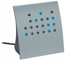 Crystal Blue Powers of 2 BCD & Direct Binary Clock Silver with Blue LEDs