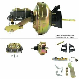 "1973-87 Chevy Truck Firewall Mount Power 7"" Single Brake Booster Kit Disc/Disc"