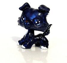 Littlest Pet Shop OOAK Dog Collie Custom Hand Painted Midnight Metallic Figure