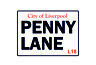 City of liverpool penny lane road vintage style metal wall plaque sign