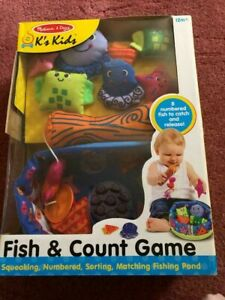 MELISSA AND DOUG K'S KIDS FISH AND COUNT GAME 12M+ NEW.