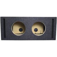 "Atrend Dual 8"" Vented Subwoofer Enclosure Box in Black"