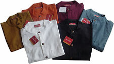 Men's No Pattern Grandad Casual Shirts & Tops