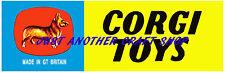 Corgi Toys early 1960's large size Vintage Poster Shop Sign Advert Leaflet