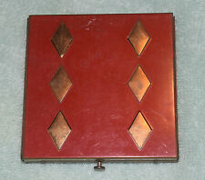 GA-012 - Columbia Dice Theme Lady's Make Up Compact Used, Vintage