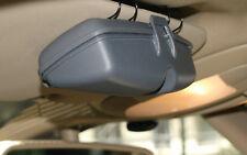 GRAU KFZ Auto Brillenetui Sonnenbrillenetui Kunststoff Sonnenblende Tasche