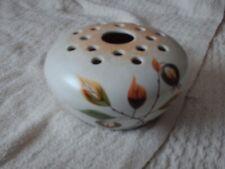 More details for vintage radford handpainted flower holder/vase 14 cm wide 8 cm high