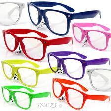 Clear Lens Unisex Glasses Large Classic Nerd Geek Retro Vintage Style New
