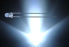 50 St. 3mm Led Leds WEISS 25° Gehäuse klar 20000 mcd