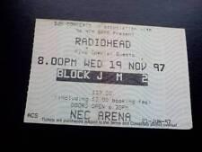 Radiohead ticket  Birmingham NEC 19/11/97