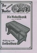Anleitung zum Selbstbau einer Hobelbank - Werkzeuge, Hilfsmittel uvm. NEU NEU!!