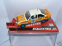 SCALEXTRIC A10147S300 FORD ESCORT MKII #19 HEAT FAR HIRE P.WHITE-R.BROOKES  MB