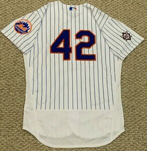 JACKIE ROBINSON GSELLMAN size 44 #42 2021 New York Mets GAME USED JERSEY MLB