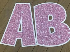 Yard Card Lawn Greeting Rental Letter Set Pink Glitter Lawn Letters