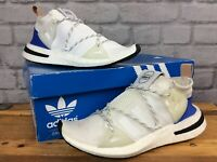 ADIDAS LADIES UK 4 EU 36 2/3 ARKYN BOOST WHITE BLUE TRAINERS RUNNING RRP£100 LG