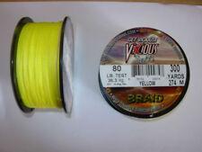 Lignes, tresses et fils de pêche jaune
