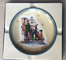 "Schmidt 1981 Christmas plate ""A Time to Remember"" Berta Hummel"