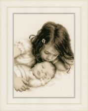 Vervaco Counted Cross Stitch Kit : Baby and Sister - PN0148435