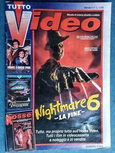 TUTTO VIDEO mensile CATALOGO VHS XXX/Nightmare/MOANA/Cavalieri Zodiaco/SEXY HOT