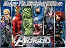 Marvel Avengers Assemble Superhero Hulk Iron man Thor Birthday Icing Cake Topper