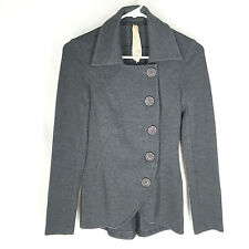BAILEY 44 JACKET Womens Size XS Stretch Long Sleeve Button Front Gray Solid